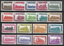 Belgium stamps 1949 OBP SP304-SP321 MNH VF TRAINS