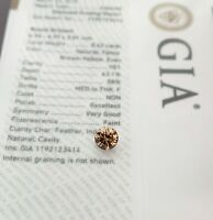 .5CT Round VS1 Fancy Brown Yellow GIA Certified Loose Diamond Engagement Ring