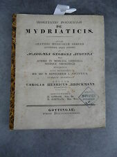 De mytriaticis thèse Carolus Brockmann Monoyer ophtalmologie optique médecine
