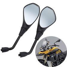Paar Motorrad Spiegel Rückspiegel Universal 10mm Für BMW F650GS Suzuki Schwarz