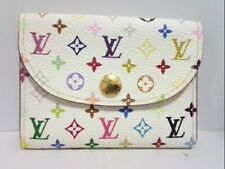 Auth LOUIS VUITTON Enveloppe Carte de Visit M66560 Litchi Monogram Multicolore