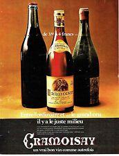 Publicité Advertising 067  1971   vin  Cramoisay & Champelure Noémie Vernaud