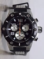 Invicta Chronograph Speedway Mens Stainless Steel & Black Silicone Watch 22235