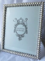 """Olivia Riegel Pearl & Crystal 8"""" x 10"""" Photo Frame  NEW! In Box!"""