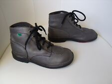 ♥ Boots Bottines KICKERS Kick Col cuir gris 36 ♥