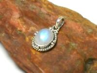 Fiery  Oval  MOONSTONE  Sterling  Silver  925  Gemstone  PENDANT