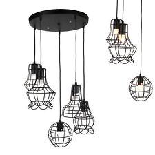 [Lux.Pro]® Lámpara colgante negra lámapra de techo retro varias luces vintage