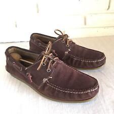 John Varvatos USA Brown Suede SCHOONER Boat Shoes Size 8.5M