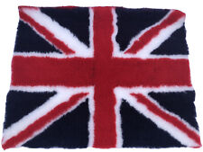 VET BEDDING FLEECE DOG MAT IN RED UNION JACK MACHINE WASHABLE MEDIUM 37' X 29'
