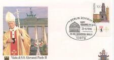 ENVELOPPE VISITE DU PAPE JEAN PAUL II / GERMANY ALLEMAGNE BERLIN /  1996