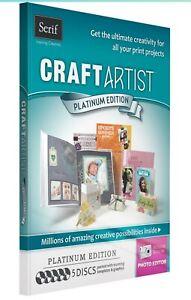 Serif Craft Artist Platinum Edition Cd Rom Printable Graphics Card Making Crafts