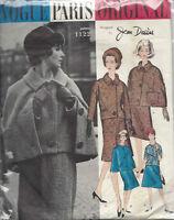 1960s Vintage VOGUE Sewing Pattern B36  SKIRT JACKET CAPE (1560R) JEAN DESSES