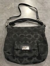 Coach-Black-Kristin-Sateen-Signature-Op-Art-14753-Convertible-Crossbody-Handbag