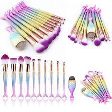11Pcs Makeup Brushes Set Cosmetic Mermaid Eyebrow Eyeliner Lip Pencil Brush New
