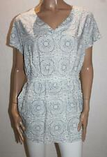 TARGET Brand White Blue Flower Elastic Waist Tunic Top Size 14-L BNWT #TA27