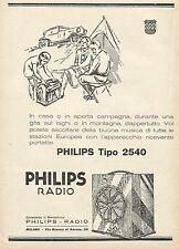 Y1140 Radio PHILIPS tipo 2540 - Illustrazione - Pubblicità 1930 - Advertising