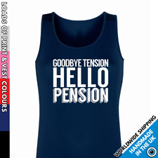 Ladies Pension Vest • Tank Top Retirement Relax No Tension Vests Gift Funny Fun