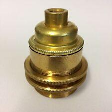 Antik Lampenfassung Messing m. Aussengewinde - Vintage Metallfassung E27 - Retro