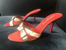 Vintage Louise Vuitton High Heeled Shoes Red, Pink & Silver