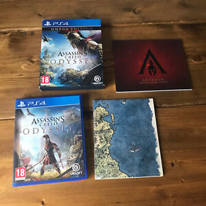 Assassin's Creed Odyssey Omega Edition Sony PlayStation 4 2018 with map & book