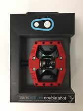 Crank Brothers Double Shot 3 Bike Pedals - Red/Black -- NEW