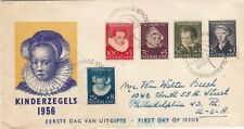 NETHERLANDS : CHILD WELFARE FUND, FIRST DAY COVER (1956)