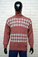 Maglione Uomo LEE Taglia XL Pullover Collo Alto Dolcevita Lana Sweater Man Wool