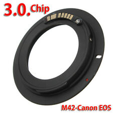 AF Confirmation Chip M42 Screw Lens to Canon EOS EF Body Mount Adapter Ring Hot