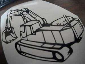 JCB   TRACKED DIGGER window sticker, decal van  sticker jcb Excavator digger uk