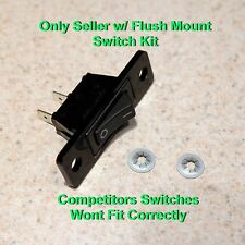 Black - 12001129 Replacement Jenn Air Fan Switch - 2 Wires (Ready to Install)