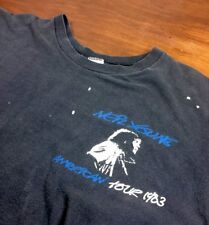 Very Rare, Neil Young 1983 American Tour black T-Shirt sz M, perfectly worn