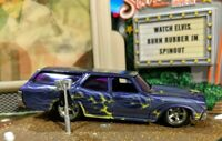 HOT WHEELS VHTF GARAGE CHASE W/INITIALS '70 CHEVY CHEVELLE WAGON SS REAL RIDERS!