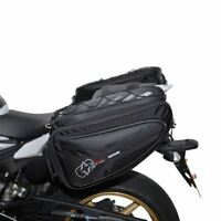 Oxford P50R Motorcycle Panniers Expandable Heat Resistance Luggage 50 L Black