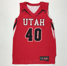 New Under Armour Utah Utes Women's Medium Armourfuse Basketball Jersey Red $80