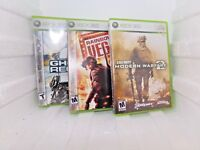 lot xbox 360 games Call Of Duty,RainbowSix Vegas,Ghost recon 2, Tom Clancy's EUC