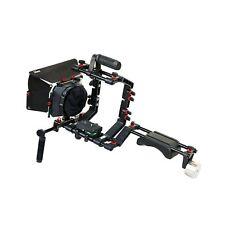 FILMCITY DSLR Camera Shoulder Support Rig Kit with Cage & Matte Box   DV HDV ...