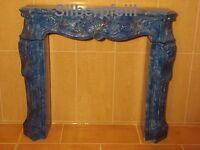 Kaminkonsole Kaminverkleidung Kaminumrandung Säule Marmor Optik Möbel 1840 Fa119
