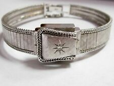 Vintage Women's Brichot 17 Jewels Diamond 14k White Gold Automatic Analog Watch