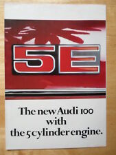AUDI 100 5E SALOON c1978 UK Market Sales Brochure - 1005E