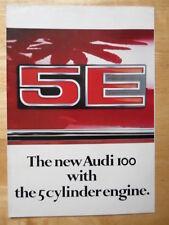 AUDI 100 5E Saloon 1978c UK Market brochure - 1005E