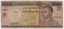 CONGO 100 MAKUTA 1967 PICK 12 A LOOK SCANS