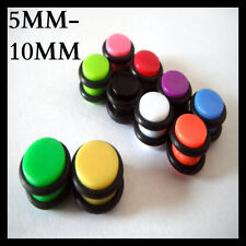MAGNETIC EAR PLUG CHEATER FAKE NON PIERCING TUNNEL EARRING TAPER FLESH 5MM-10MM