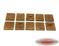 Wargames 10 x 25mm Wood Plank / Wooden Pirate Ship Decking Resin Bases