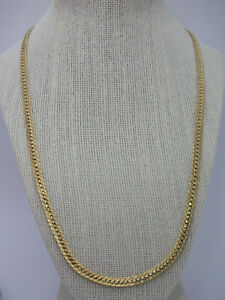 """Vintage Retro Long 1/20 14K Yellow Gold Filled Flat Chain Necklace 22"""""""