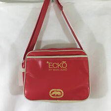 Marc Ecko New Red Tote Vinyl Small Overnight Bag Adjustable Strap NWT