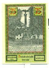 OLD GERMANY EMERGENCY PAPER MONEY - NOTGELD Soldin 1921 75 Pf