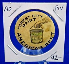 """Forest City Paint America's Best Advertising Pin Pinback Button 1 1/4"""" Balto Bdg"""