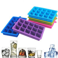15 Grid Large Cube Ice Pudding Jelly Soap Maker Mold Mould Tray Silicone Tool HS