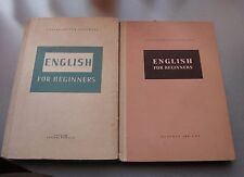 VINTAGE RARE Lot 2 Books English for Begginers for Bulgarians from 1957,excellen