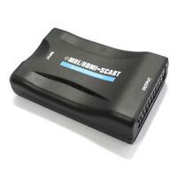 A02 HDMI zu Scart Wandler Konverter Adapter AV Video TV Fernseher Monitor 1080P